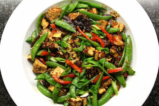 Asian Tofu Snap Pea Stir-Fry with Sesame Peanut Sauce - Dr. Mark Hyman