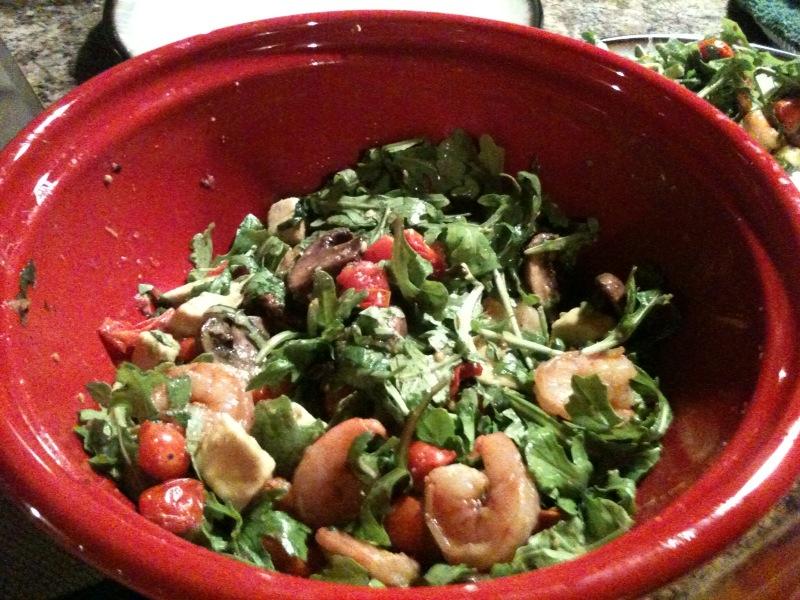 Spicy Shrimp With Avocado And Arugula Salad Recipe — Dishmaps