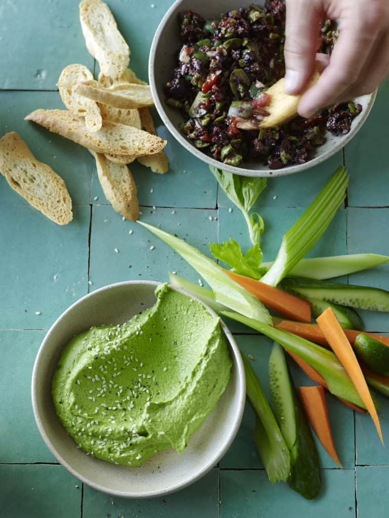 Incredibly edible edamame dip-tess masters