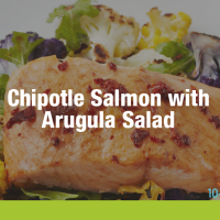 Chipotle Salmon with Arugula Salad